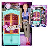 Кукла с мебелью , в коробке
