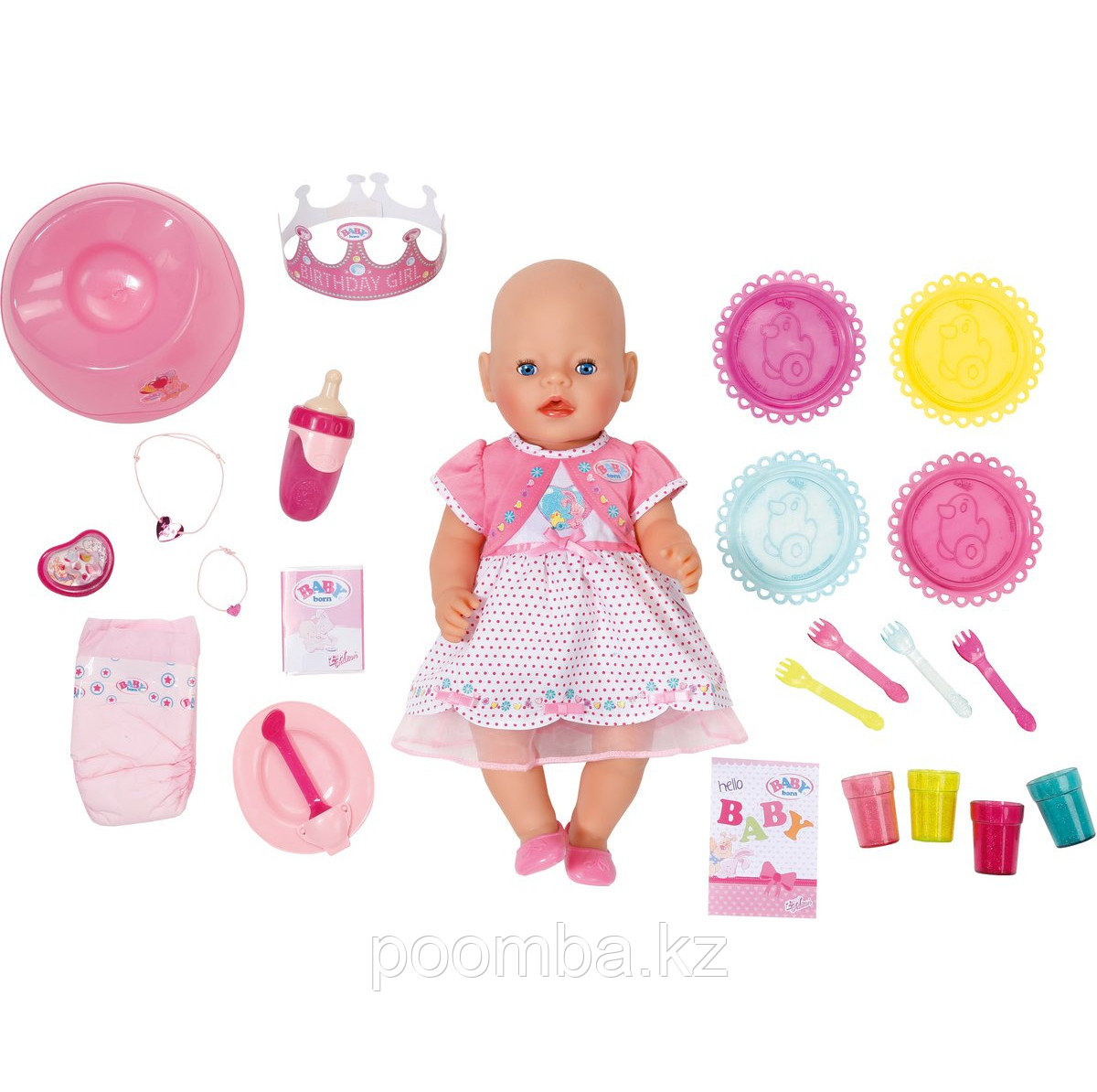"""Интерактивная кукла Baby Born """"Праздничная"""" 43 см."""