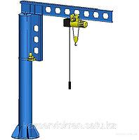 Кран консольный на колонне с электрическим поворотом 0,5т