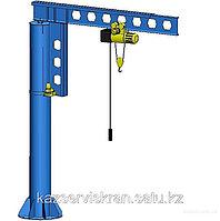Кран консольный на колонне с электрическим поворотом 2т