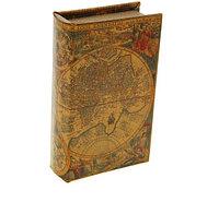 Сейф-книга Старинная карта мира