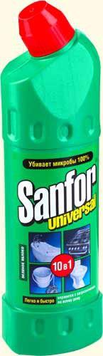 Чистящее для санузла  Санфор 750мл яблочный
