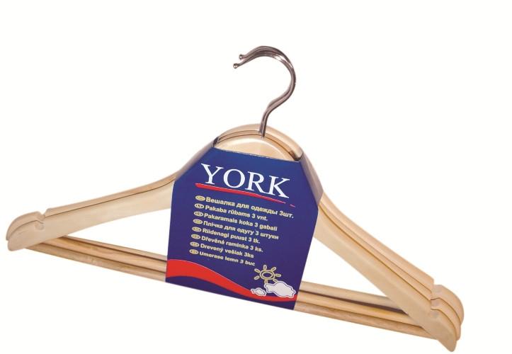 Вешалка деревянная York 3 шт