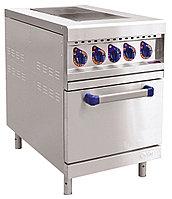 Плита электрическая ЭП-2ЖШ двухконфорочная с жарочным шкафом (лицевая нерж, серия 900)