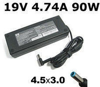 Блок питания зарядка для ноутбука HP/Compaq 19V, 4.74A, 90W, B klass, 4.5mm*3.0mm pin inside blue, Астана