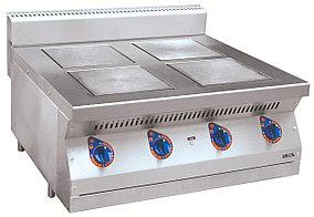 Плита электрическая ЭПК-47Н четырехконфорочная без жарочного шкафа (полностью нерж, серия 700)