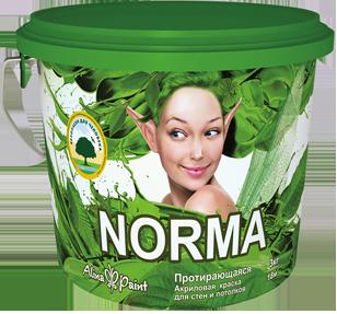 Водоэмульсионные протирающиеся краски Alina Paint NORMA 3 кг