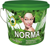 Водоэмульсионные протирающиеся краски Alina Paint NORMA  15 кг