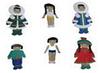 Набор кукол в национальных якутских костюмах