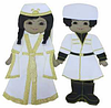 Набор кукол в национальных грузинских костюмах