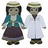 Набор кукол в национальных азербайджанских костюмах