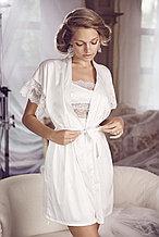 Женский шелковый халат+сорочка. Anabel Arto