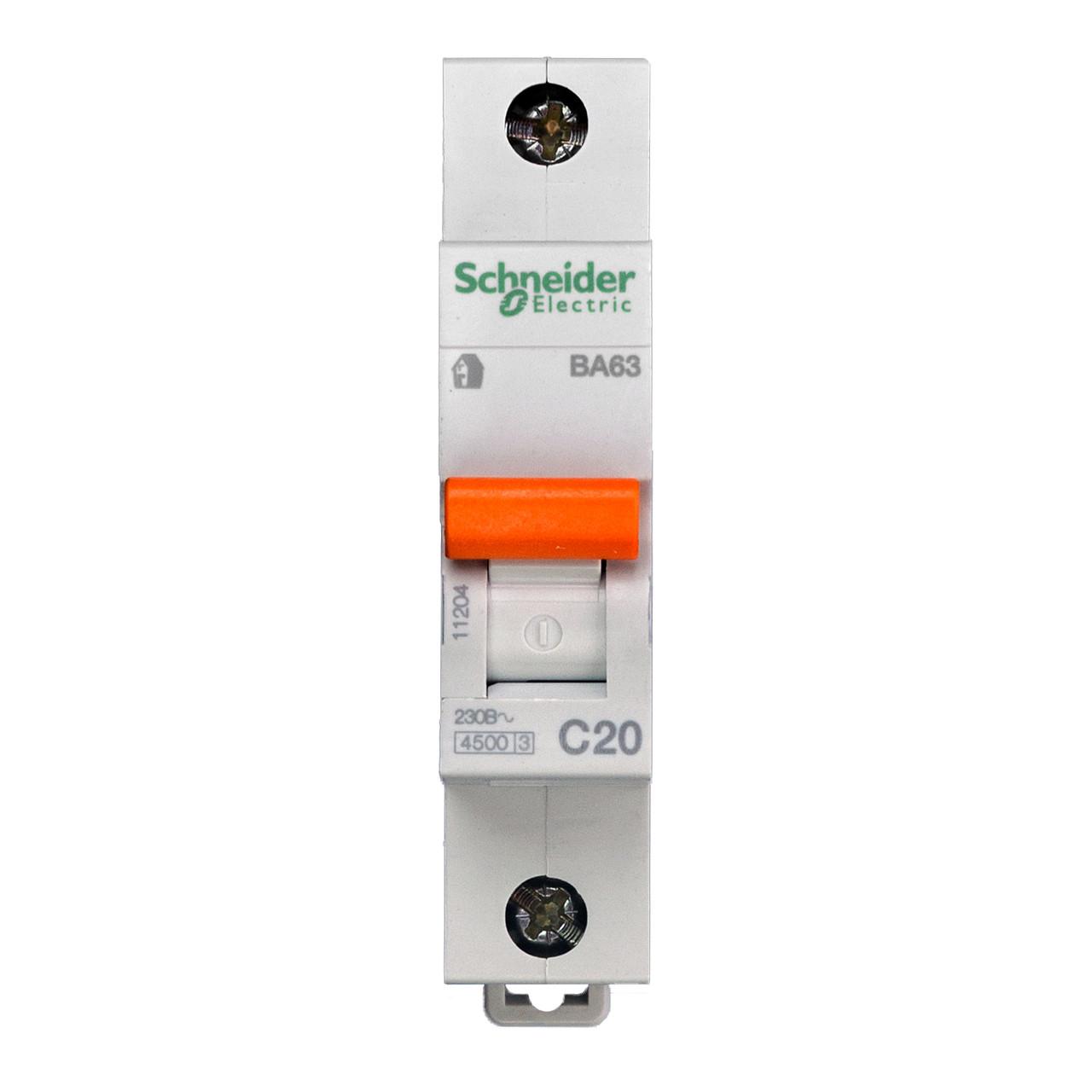 11204 Автоматический выключатель  ВА63 1п 20A  C