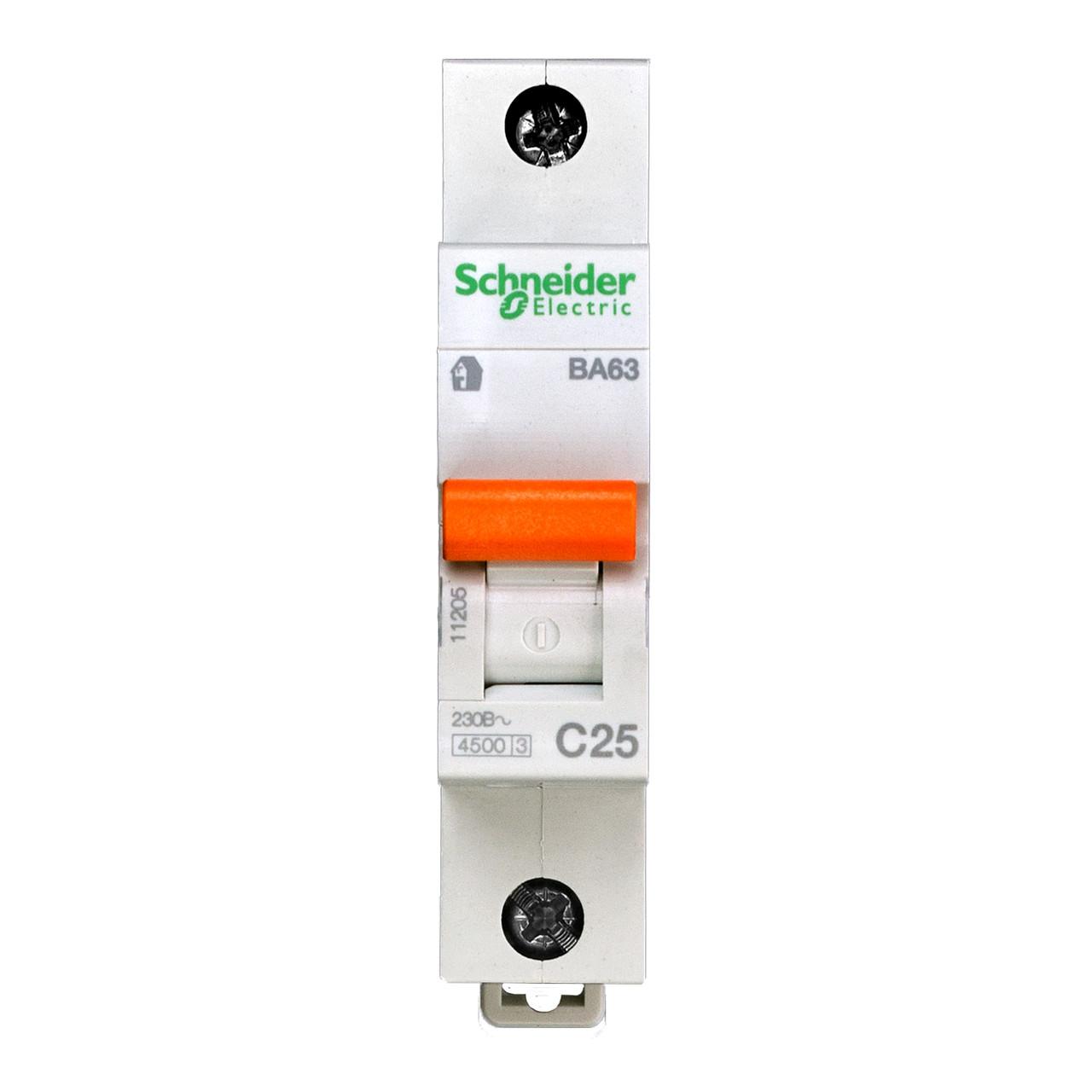 11205 Автоматический выключатель  ВА63 1п 25A  C