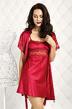 Женский атласный халат+сорочка. Anabel Arto
