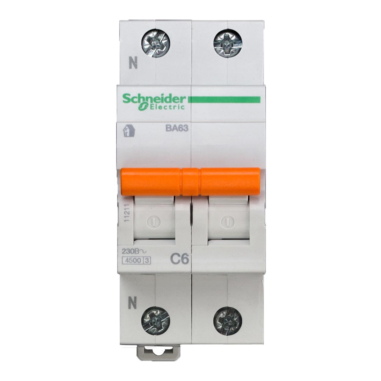 11211 Автоматический выключатель  ВА63 1п+н 6A  C