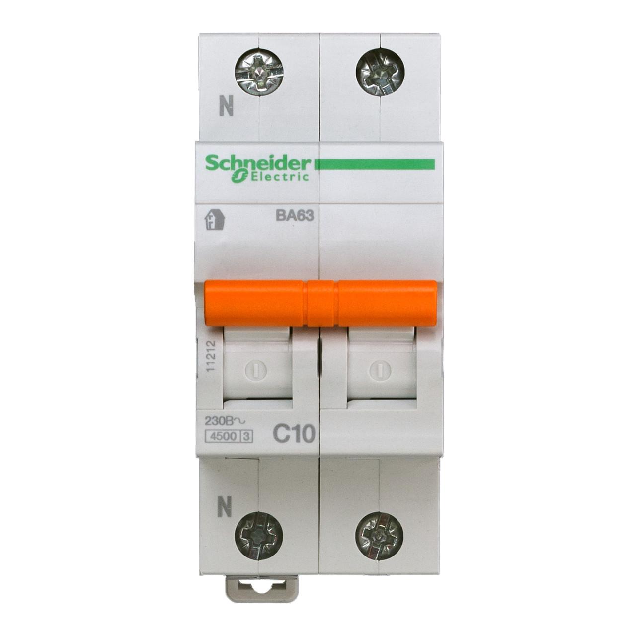 11212 Автоматический выключатель  ВА63 1п+н 10A  C
