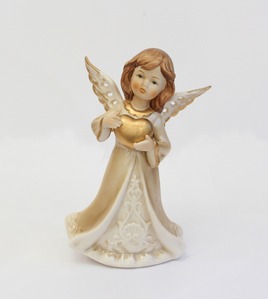 Статуэтка Ангелочек с сердцем. Ручная работа, Италия