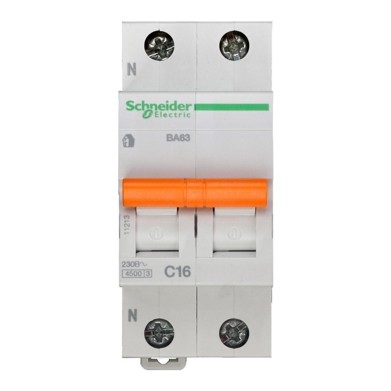 11213 Автоматический выключатель  ВА63 1п+н 16A  C