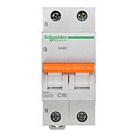 11213 Автоматический выключатель  ВА63 1п+н 16A  C, фото 1