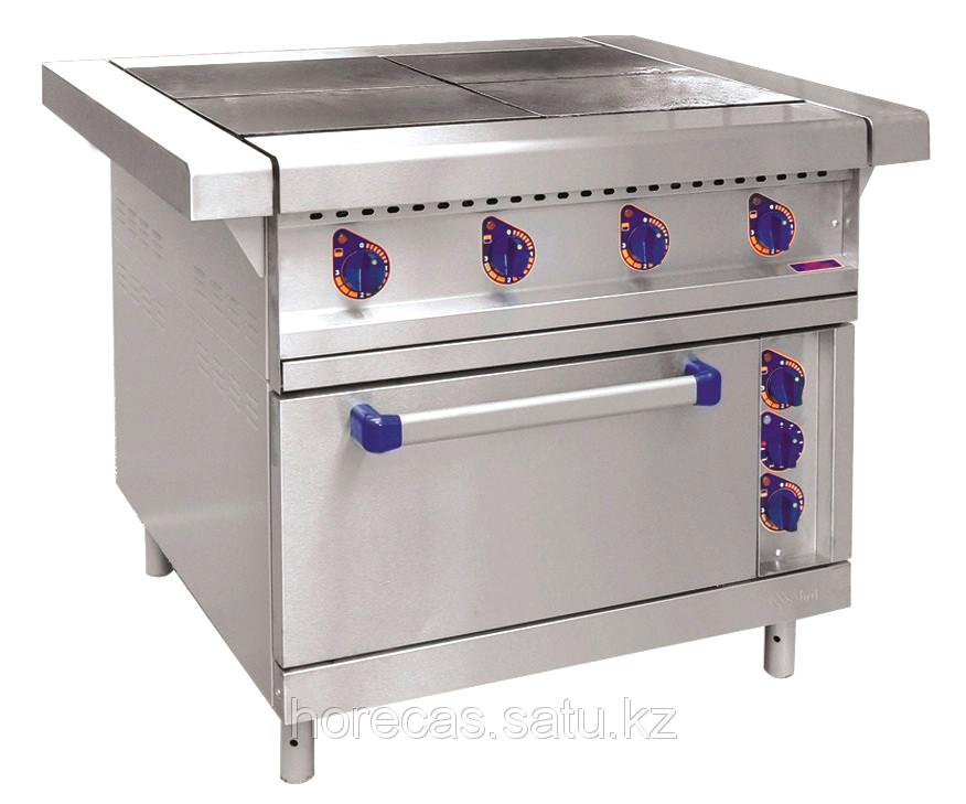 Плита электрическая ЭП-4ЖШ четырехконфорочная с жарочным шкафом (лицевая нерж, серия 900)
