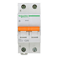 11215 Автоматический выключатель  ВА63 1п+н 25A  C
