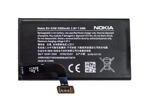 Заводской аккумулятор для Nokia Lumia 1020 (BV- 5XW, 2000mah)