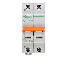 11216 Автоматический выключатель  ВА63 1п+н 32A  C