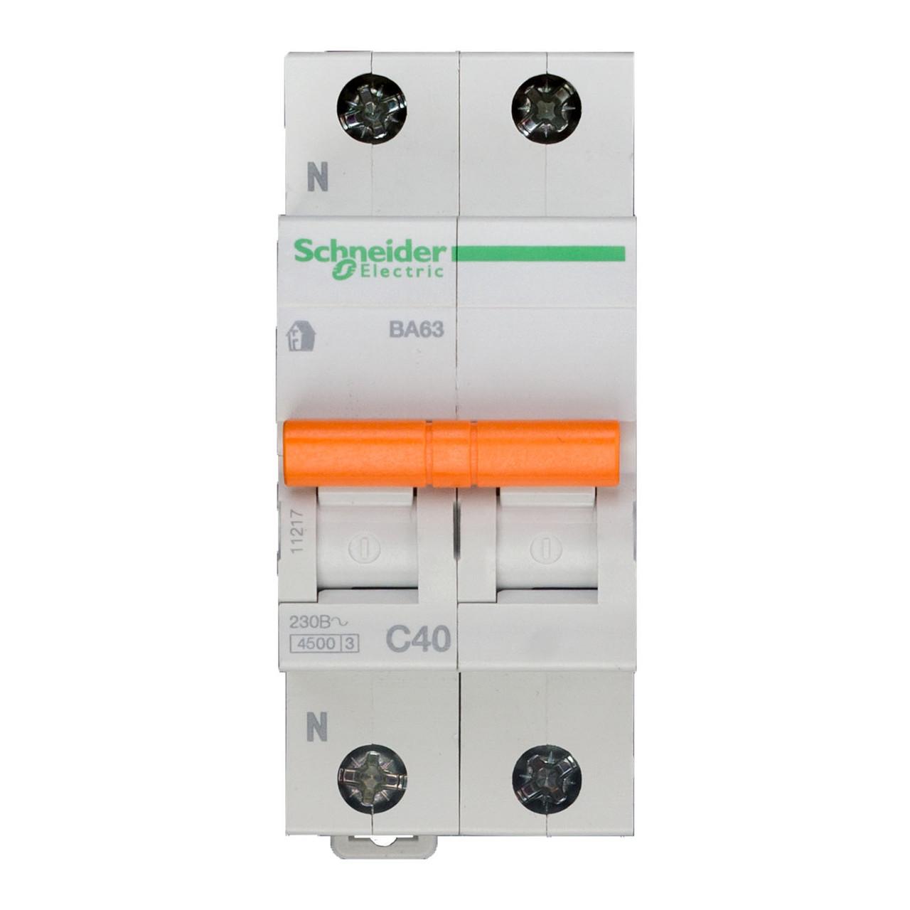 11217 Автоматический выключатель  ВА63 1п+н 40A  C