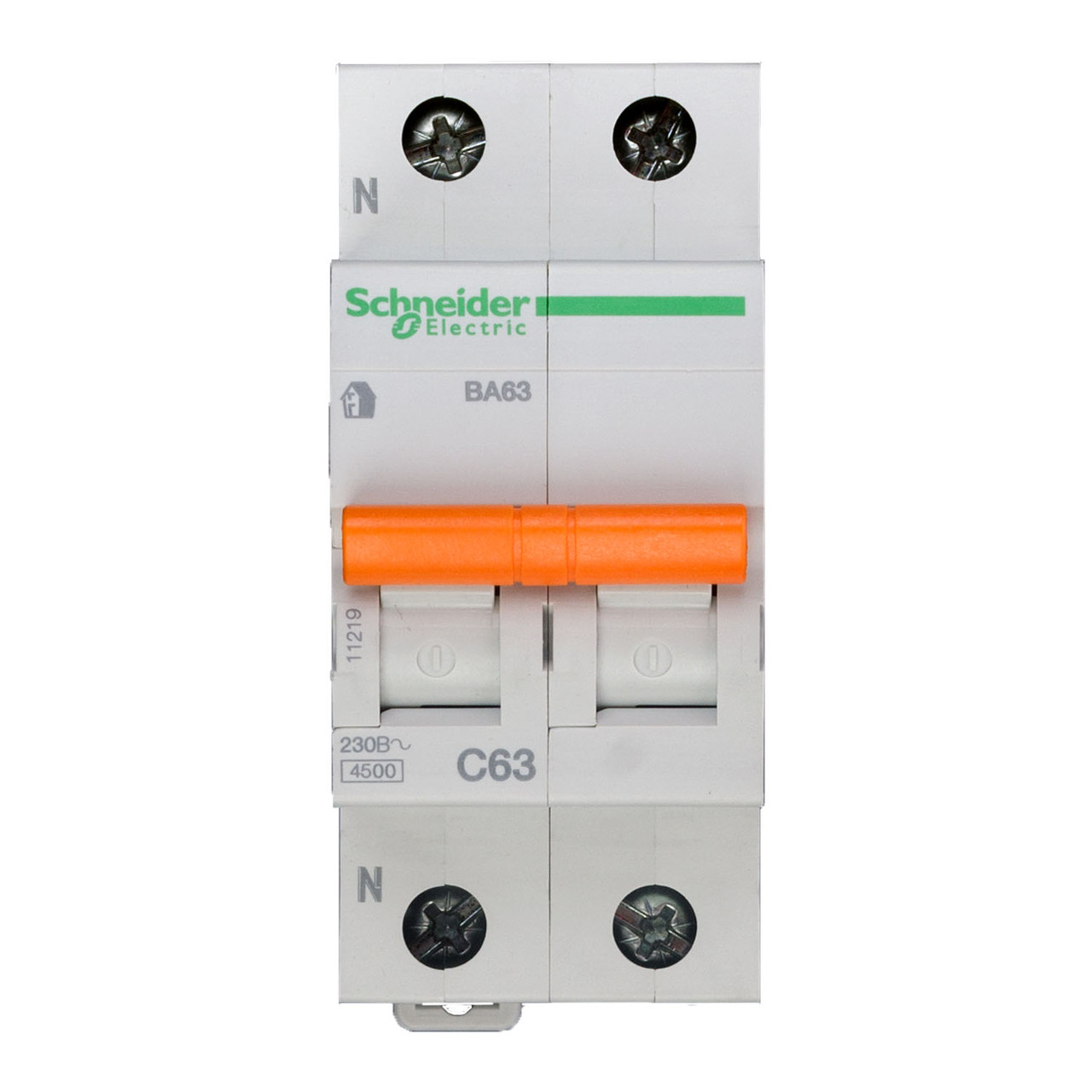 11219 Автоматический выключатель  ВА63 1п+н 63A  C