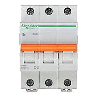11221 Автоматический выключатель  ВА63 3п 6A  C