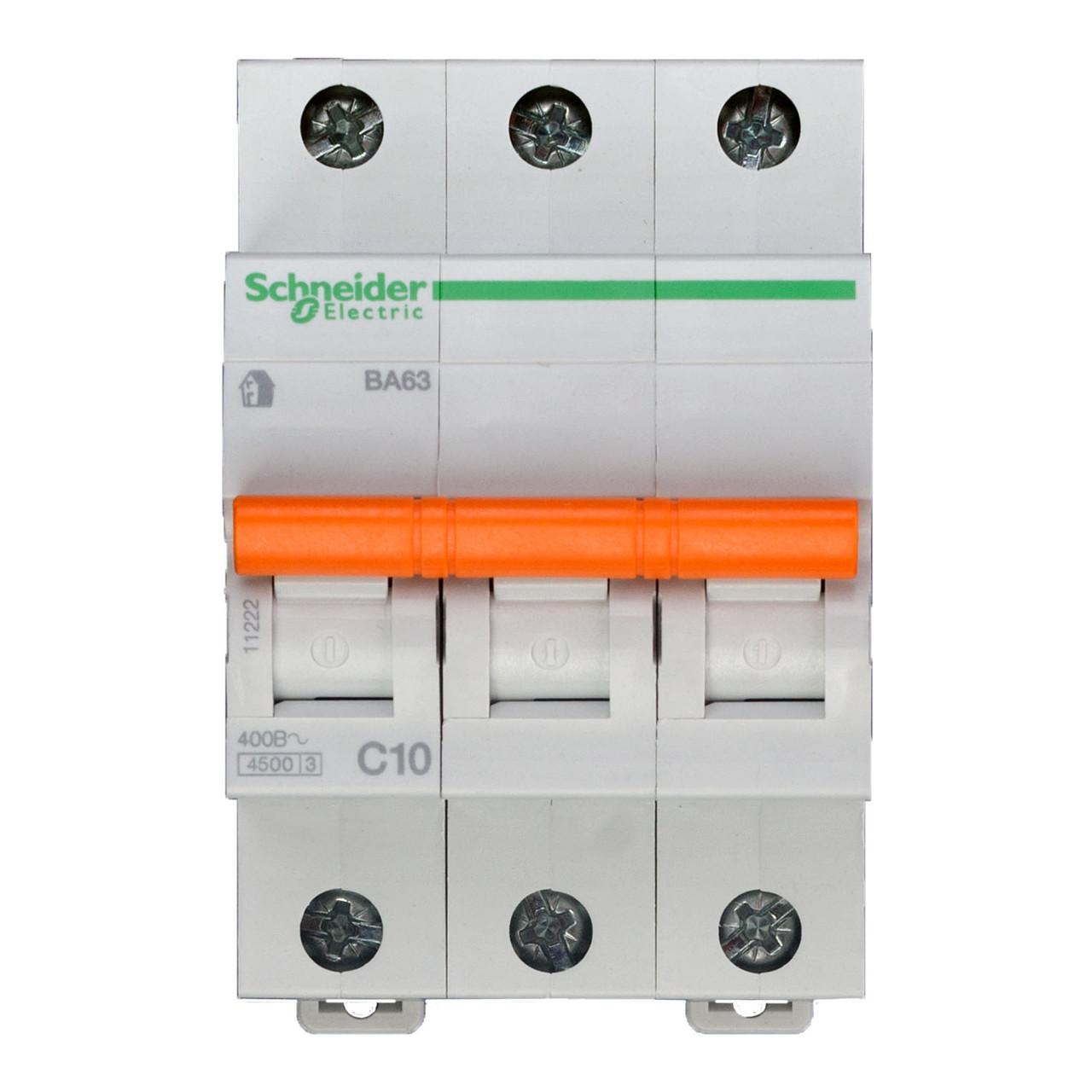 11222 Автоматический выключатель  ВА63 3п 10A  C