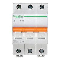 11223 Автоматический выключатель  ВА63 3п 16A  C                                   , фото 1