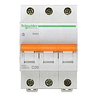 11224 Автоматический выключатель  ВА63 3п 20A  C , фото 1
