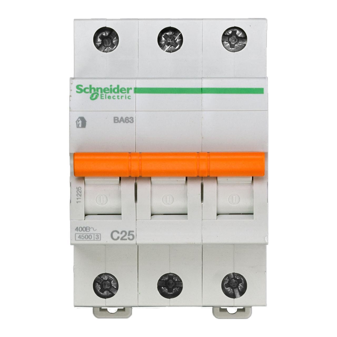 11225 Автоматический выключатель  ВА63 3п 25A  C