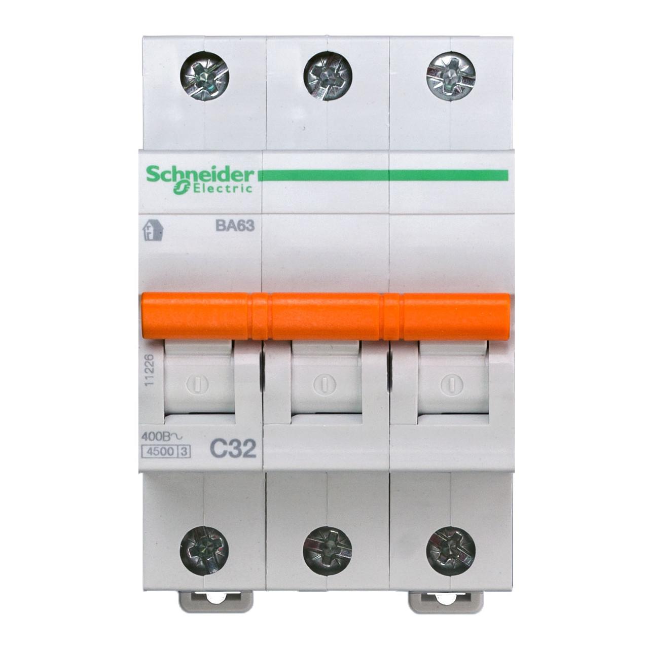 11226 Автоматический выключатель  ВА63 3п 32A  C