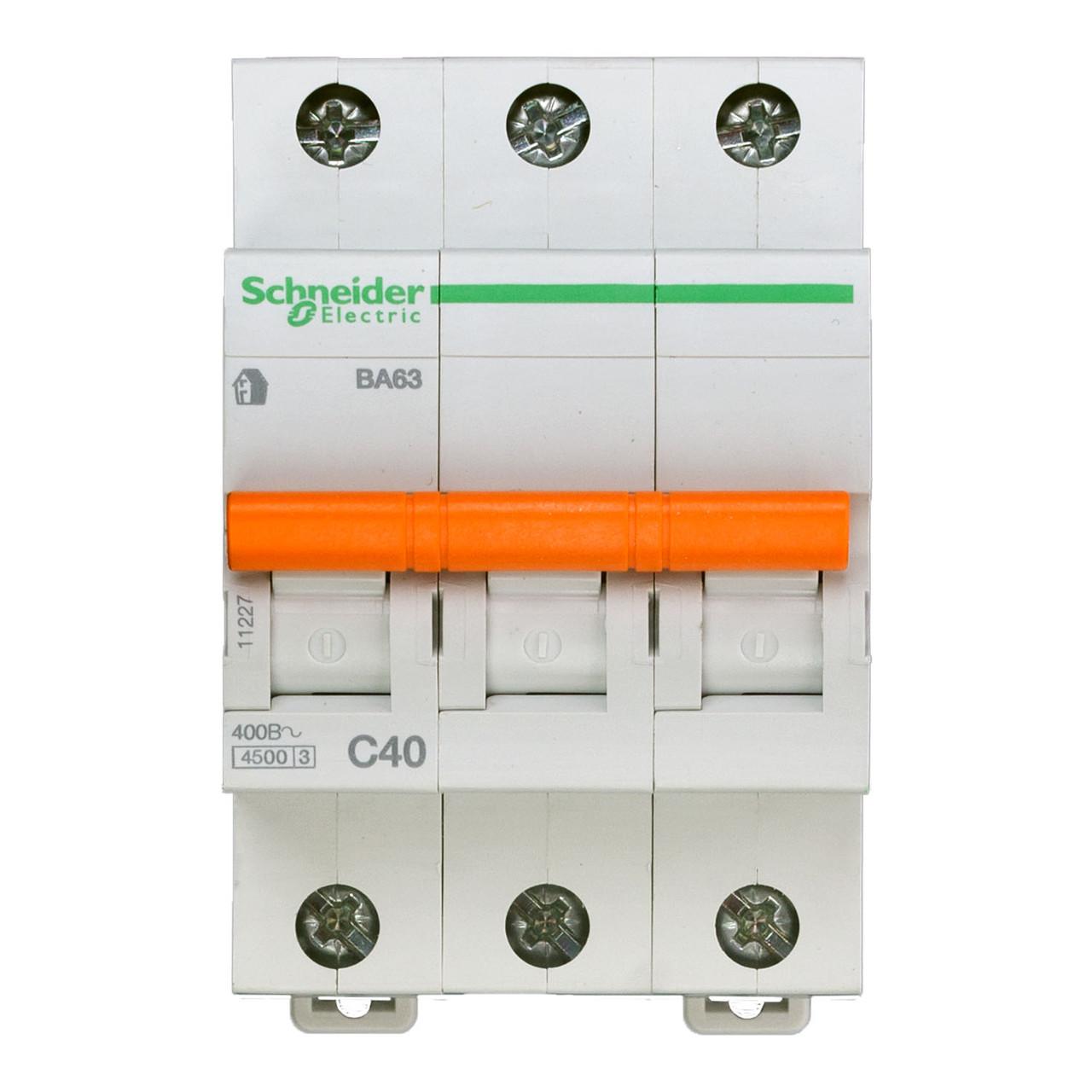 11227 Автоматический выключатель  ВА63 3п 40A  C