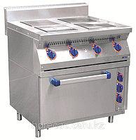 Плита электрическая ЭПК-47ЖШ четырехконфорочная с жарочным шкафом (полностью нерж, серия 700)