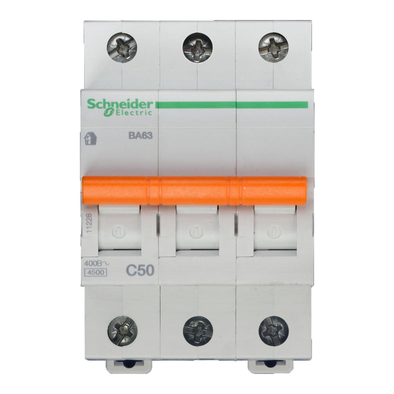 11228 Автоматический выключатель  ВА63 3п 50A  C