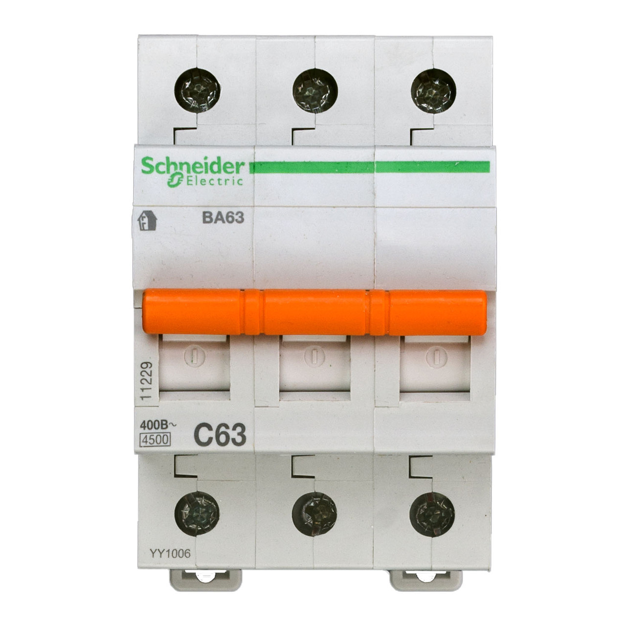 11229 Автоматический выключатель  ВА63 3п 63A  C