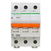 11229 Автоматический выключатель  ВА63 3п 63A  C, фото 1