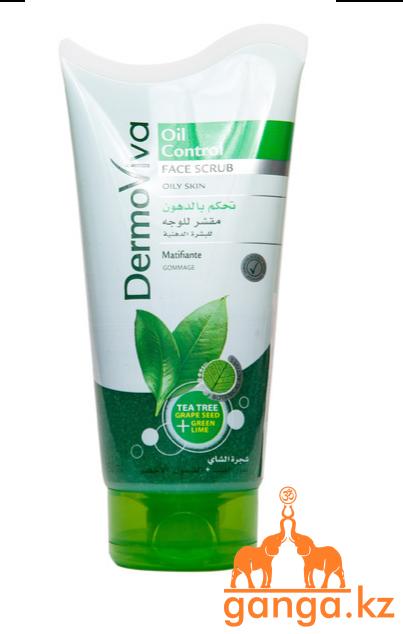 Скраб для лица для жирной кожи (DermoViva Face Scrub Oil Control DABUR), 150 мл