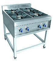 Плита газовая ПГК-49П четырехгорелочная без жарочного шкафа (серия 900)