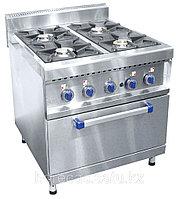 Плита газовая ПГК-49ЖШ четырехгорелочная с жарочным шкафом (серия 900)