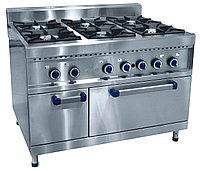 Плита газовая ПГК-69ЖШ шестигорелочная с жарочным шкафом (серия 900)