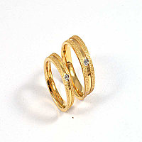 """Парные кольца для влюбленных """"Алмазное сияние"""" под золото, фото 1"""
