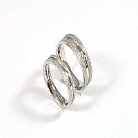 """Парные кольца для влюбленных """"Алмазное сияние"""" под серебро, фото 1"""