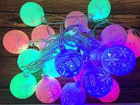 """Гирлянда """"цветные шарики """"  , фото 1"""