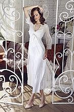 Длинный кружевной женский халат + сорочка.