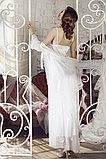 Длинный кружевной женский халат + сорочка. , фото 2